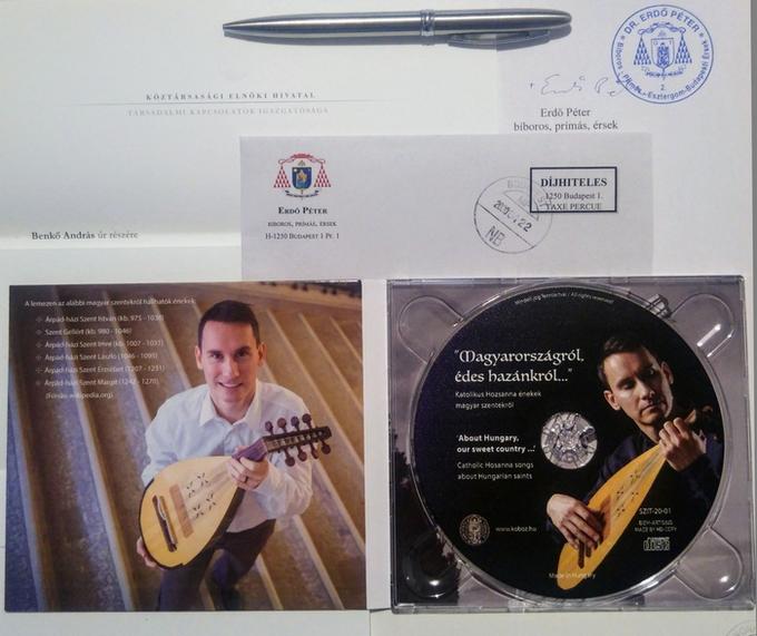 Dr. Áder János köztársasági elnök úr hivatala révén küldte el köszönetét, míg Dr. Erdő Péter bíboros, prímás, érsek úr személyes hangú levélben gratulált Benkő András egyházzenei albumához.